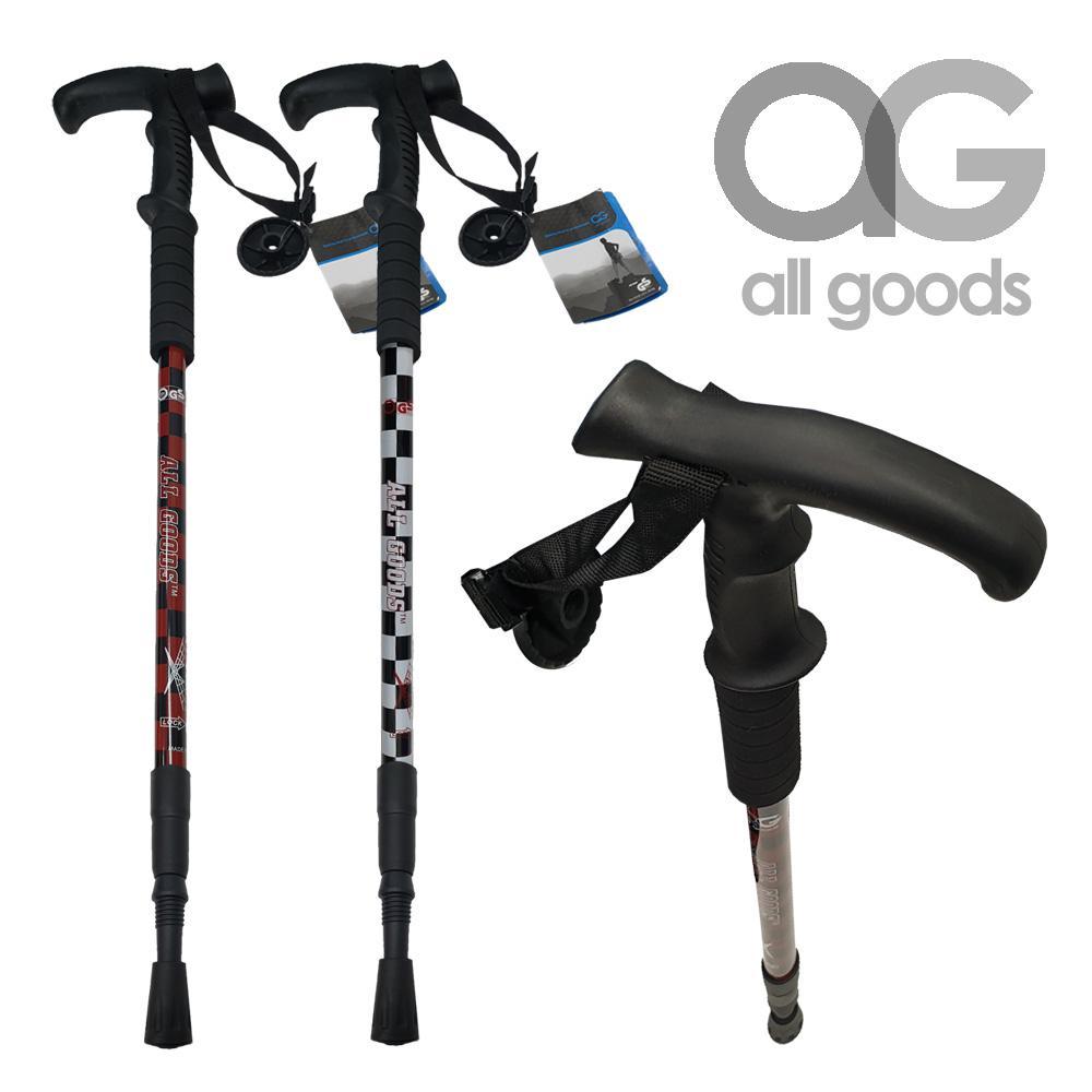 AG6061 T손잡이 체크무늬 등산스틱 지팡이 등산스틱 등산지팡이 노인지팡이 지팡이 스틱