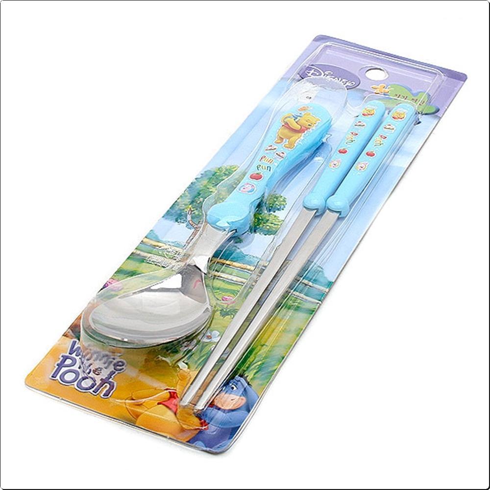 (디즈니) 곰돌이푸우 편한 수저세트 블루 캐릭터 캐릭터상품 생활잡화 잡화 유아용품