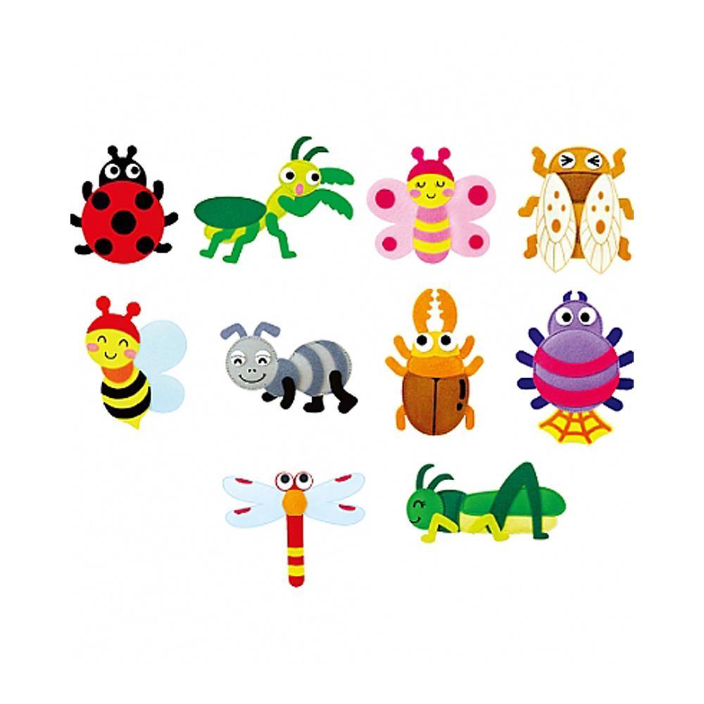 완구 어린이 유아 찍찍이 교육 교구 모형 곤충 10종 2살장난감 3살장난감 4살장난감 아이놀이 어린이선물