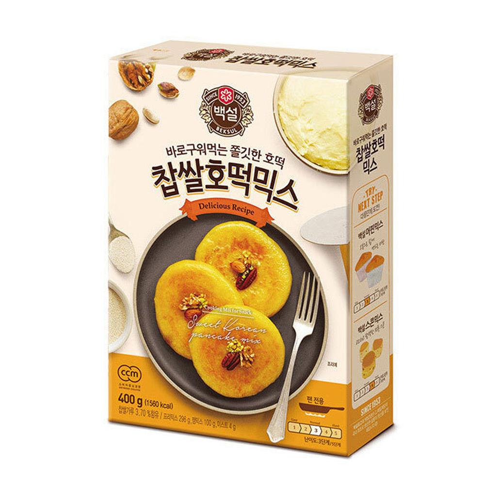 CJ백설 찹쌀호떡믹스 400g 믹스가루 베이킹 호떡가루 베이킹 호떡믹스 호떡 호떡가루 핫케익