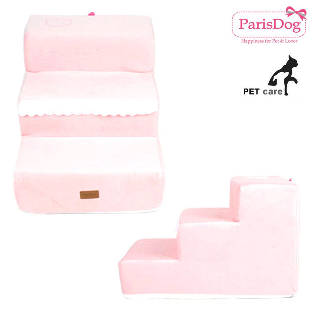 로고 포켓 스텝 핑크 39cm 침대계단 강아지 애완동물 스텝 강아지 애견용품 침대계단 애완동물