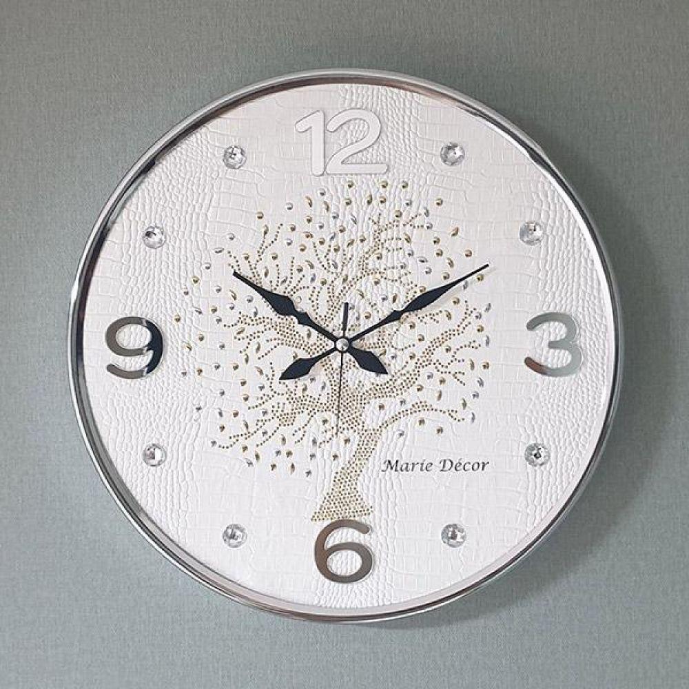행운나무 무소음 벽시계(대) 아이보리 벽시계 벽걸이시계 인테리어벽시계 예쁜벽시계 인테리어소품