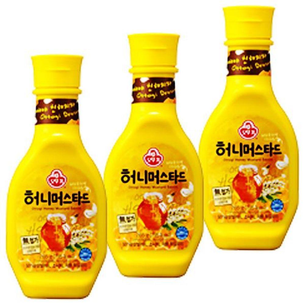 오뚜기)허니 머스타드 265g x 6개 매콤함 달콤함 겨자 간편 겨자 달콤 꿀 핫도그 소시지