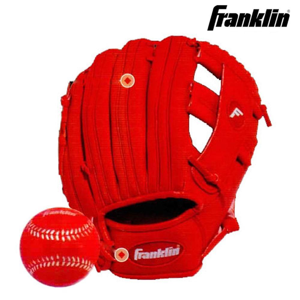 프랭클린 RTP 주니어 글러브. 볼 세트 (22711) (9.5in) (우투용) 야구공가방 야구공 볼가방 볼 공가방