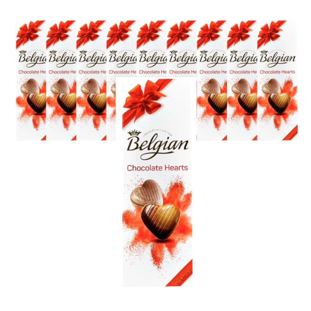 벨지안 하트 65g X 10개입 벨지안 초콜렛 발렌타인데이 수입초콜릿 초콜릿선물