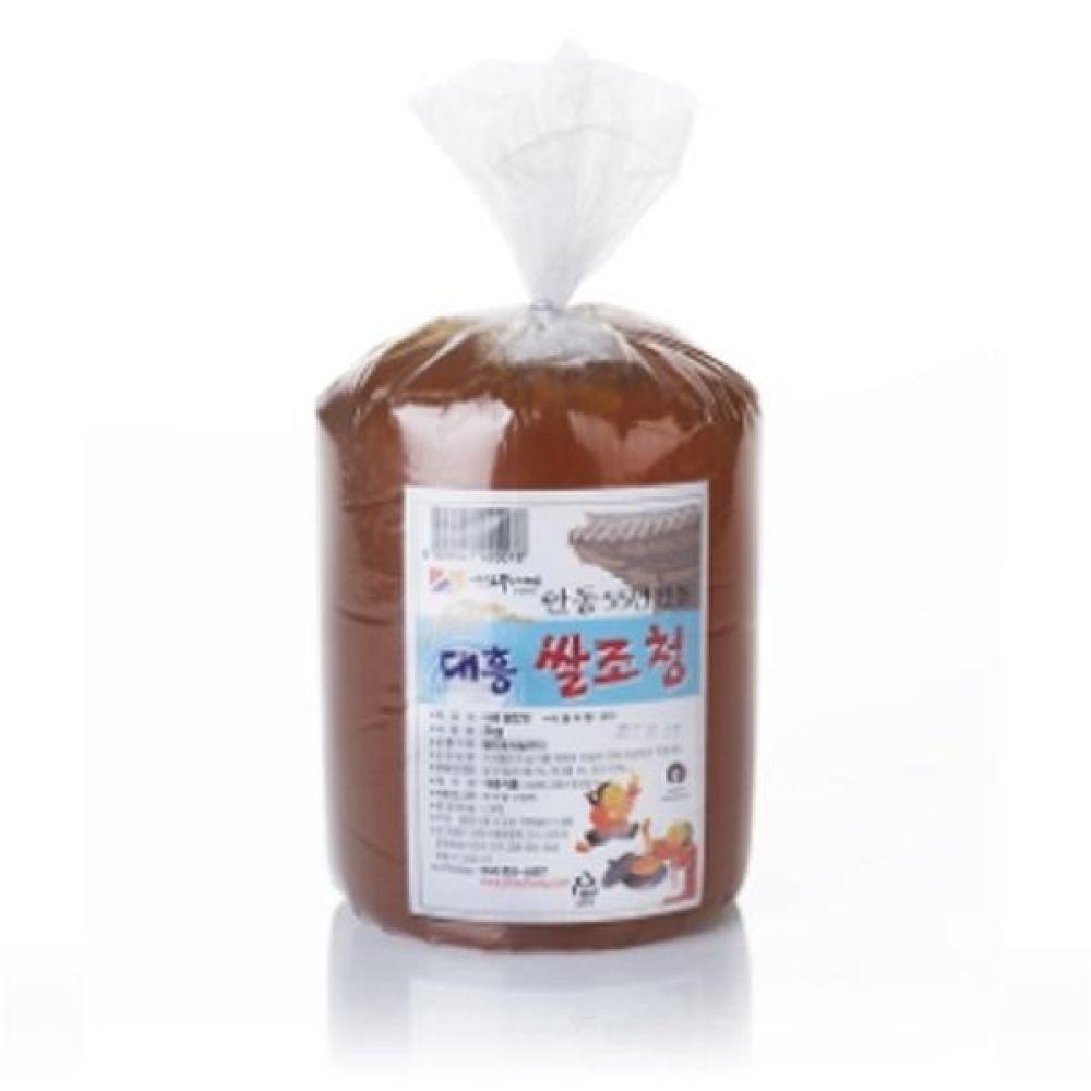 고농도 쌀조청 3kg(봉지) X 6개 농도가 높은 진한 맛의 조청 꿀 물엿 청 전통 식품