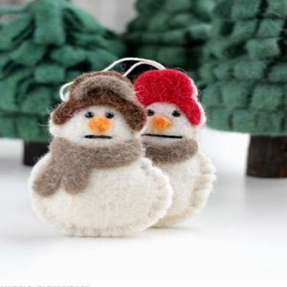 눈사람장식(2color) 장식소품 크리스마스소품 인테리어소품 눈사람장식품 눈사람소품