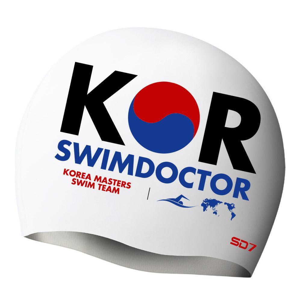 SGL-CA247-KORMASTERS-WHT 감성시리즈 SD7 실리콘수모 실리콘수모 수영모자 수영용품 수영모 수영수모