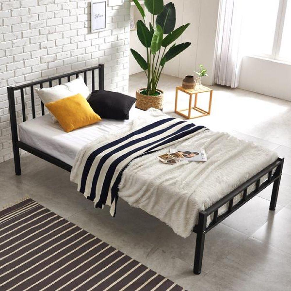하우스틸 철제 스트라이프 슈퍼싱글 침대 수납침대 침대 서랍형침대 싱글침대 침실