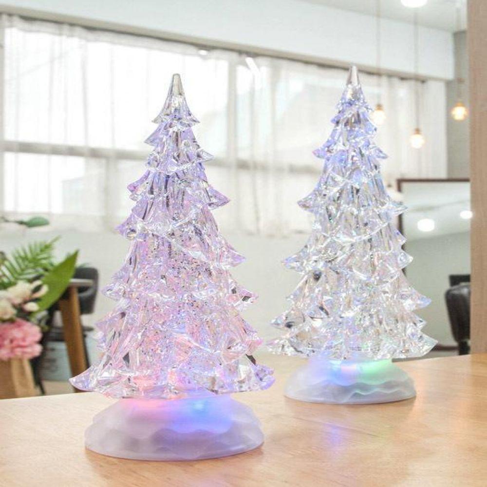 X -mas 트리 LED 워터볼 (1853 소. 1856 대) LED소품 크리스마스소품 트리소품 무드등 장식소품