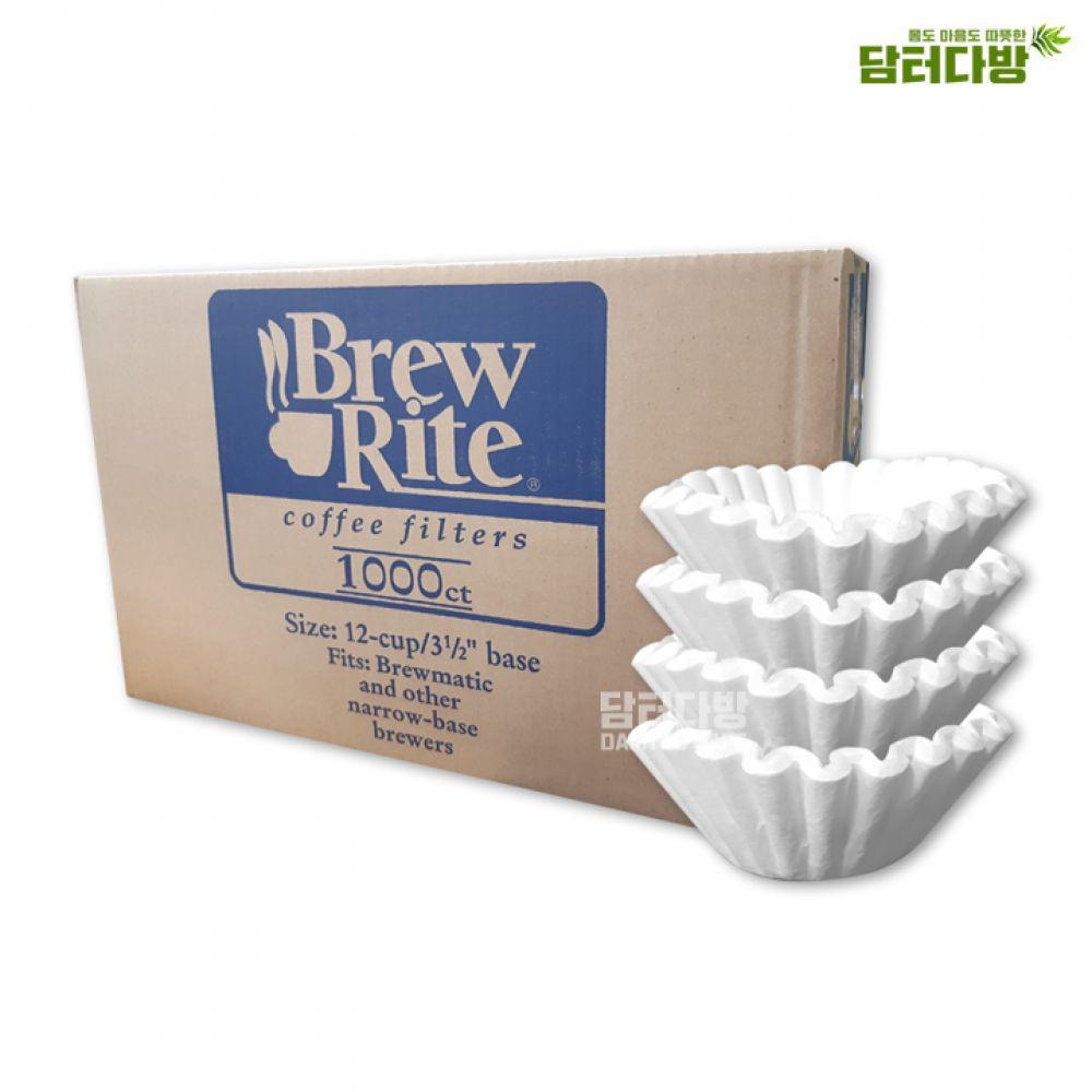 Brew Rite 커피 원형여과지 12-cup No.49-101 커피여과지 여과지 원형여과지 카페 BrewRite 편리한 대용량 카페용품 누구나좋아하는 집에서즐기는 홈카페