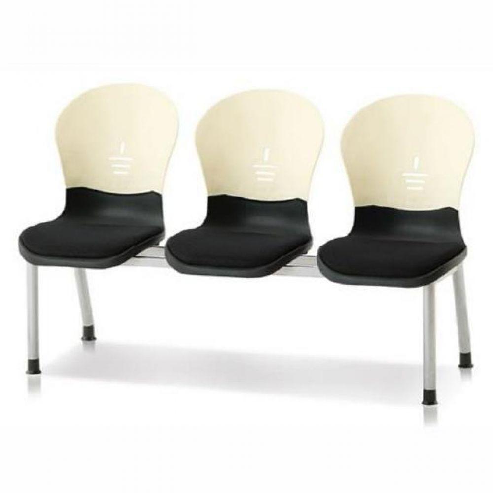 3인용 연결의자 테트라(사출-인조가죽) 603 로비의자 휴게실의자 대기실의자 장의자 3인용의자 2인용의자 약국의자 대합실의자