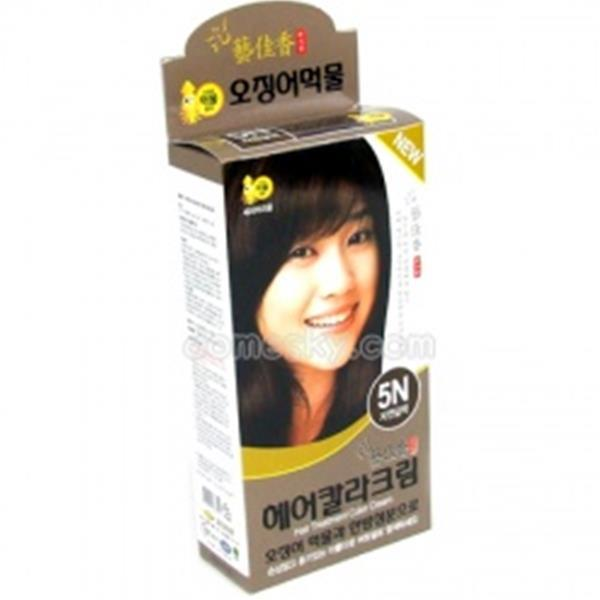 예가향 헤어칼라크림-5N자연갈색(오징어먹물) 생활용품 잡화 주방용품 생필품 주방잡화