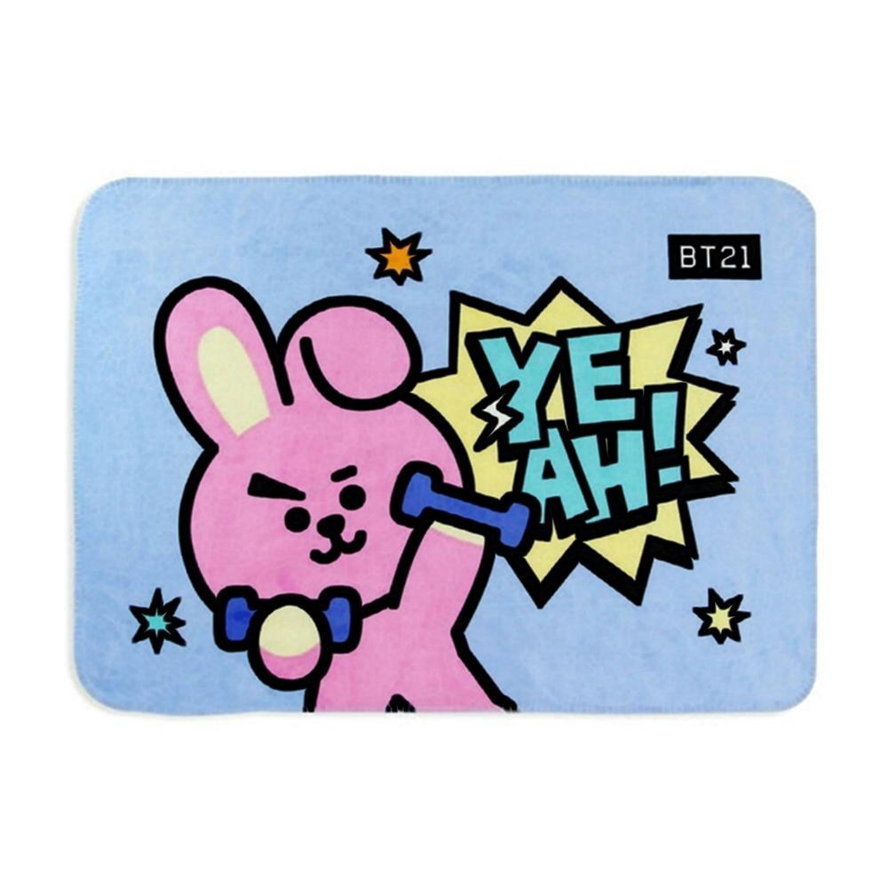 BT21 쿠키 플란넬 양털 담요 캐릭터 캐릭터상품 잡화 생활잡화 캐릭터잡화