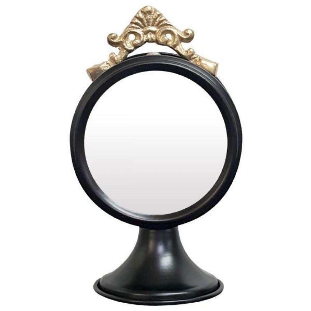 IG7359 장식용 탁상 거울 블랙 제조한국 탁상거울 인테리어탁상거울 메탈탁상거울 모던탁상거울 주석탁상거울