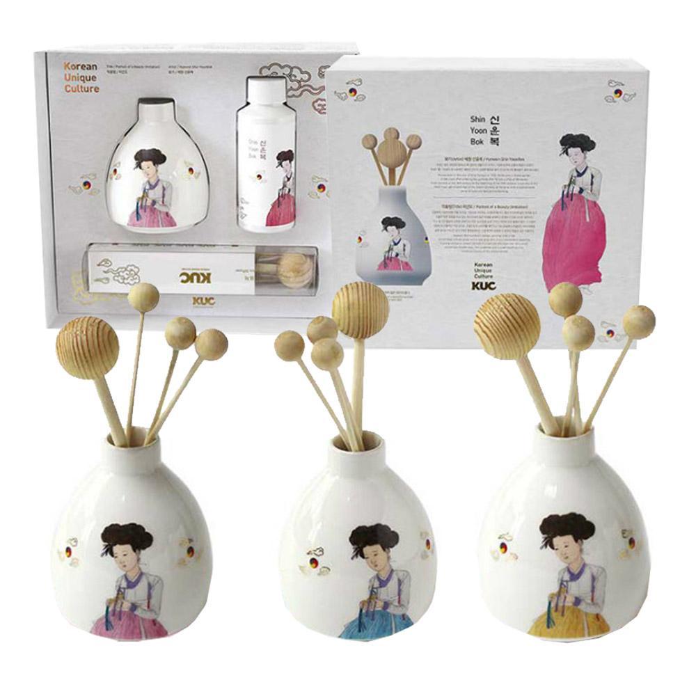 KUC 신윤복 미인도 도자기 디퓨져 선물세트 코리아선물 외국인선물 선물세트 전통공예 한국선물