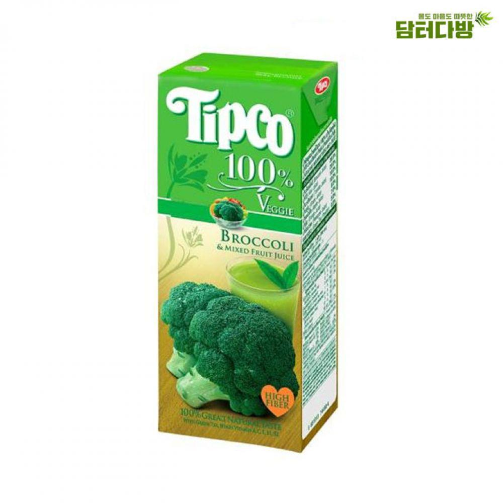 (Tipco) 팁코 브로콜리 200ml x 24개 팁코 혼합쥬스 브로콜리 팁코쥬스 팁코주스 팁코혼합주스 팁코브로콜리주스 팁코브로콜리 누구나좋아하는팁코