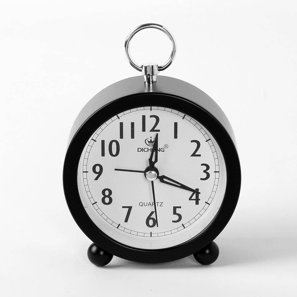 블랙 원형 알람시계 무소음 생활용품 탁상시계 생활용품 알람시계 탁상시계 인테리어시계 무소음시계