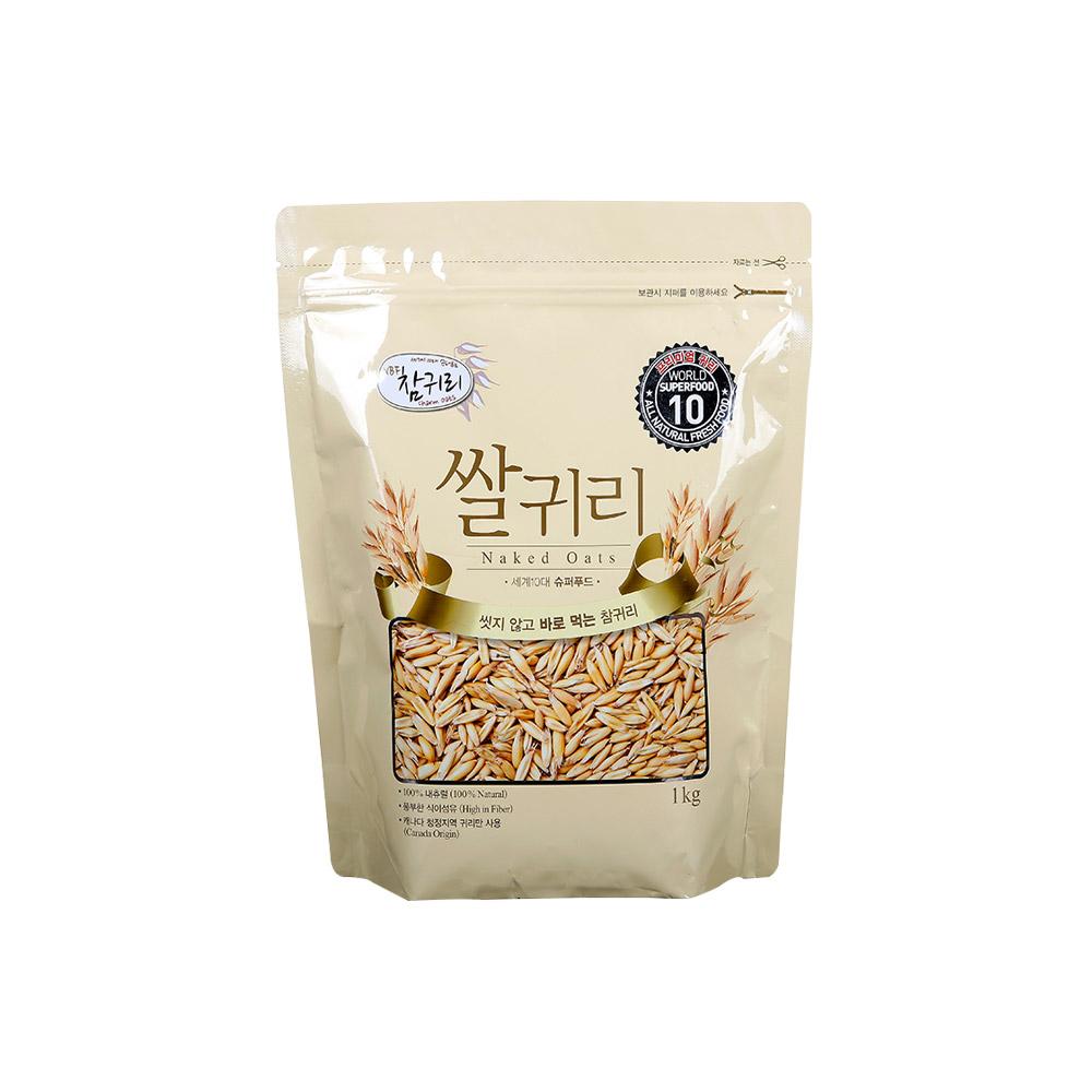 캐나다 영양만점 프리미엄 볶은귀리 1kg 귀리 참귀리 귀리쌀 오트밀 귀리밥 곡식 볶은귀리 선식 잡곡 오트
