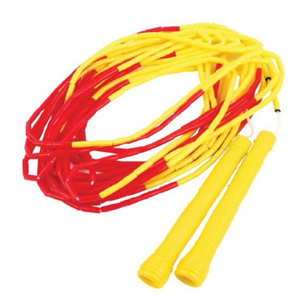 슬림구슬 단체줄넘기 10m 옐로우레드 긴줄넘기 헬스용품 트레이닝용품 홈트레이닝용품 체력단련용품 줄넘기 기초체력운동용품 단체줄넘기
