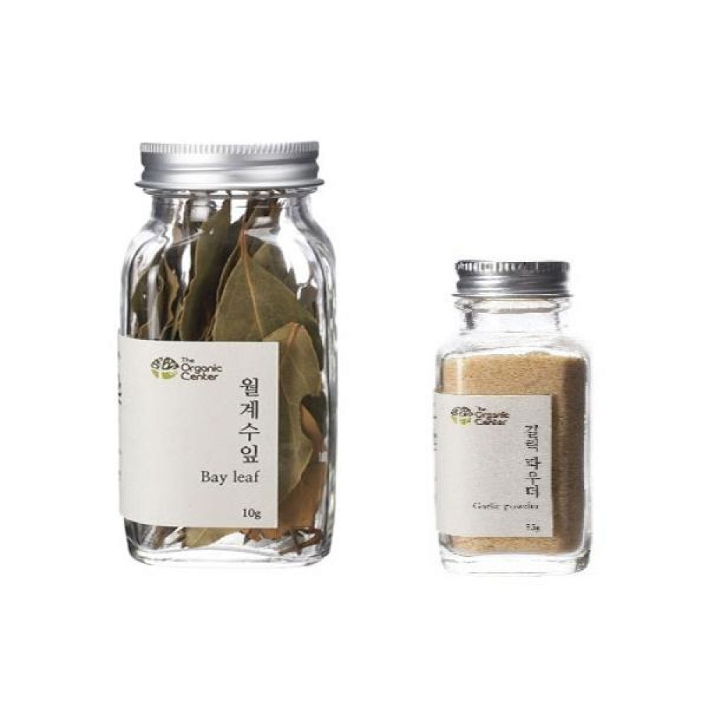 (오가닉 향신료 모음)월계수잎 10g과 갈릭 파우더 35g 건강 견과 조미료 냄새 고기