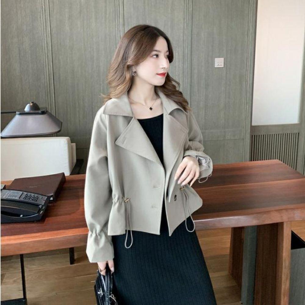 핏이 예쁜 스트링 숏 트렌치 자켓 DHH-B31 여성의류 코트 자켓 아우터 점퍼