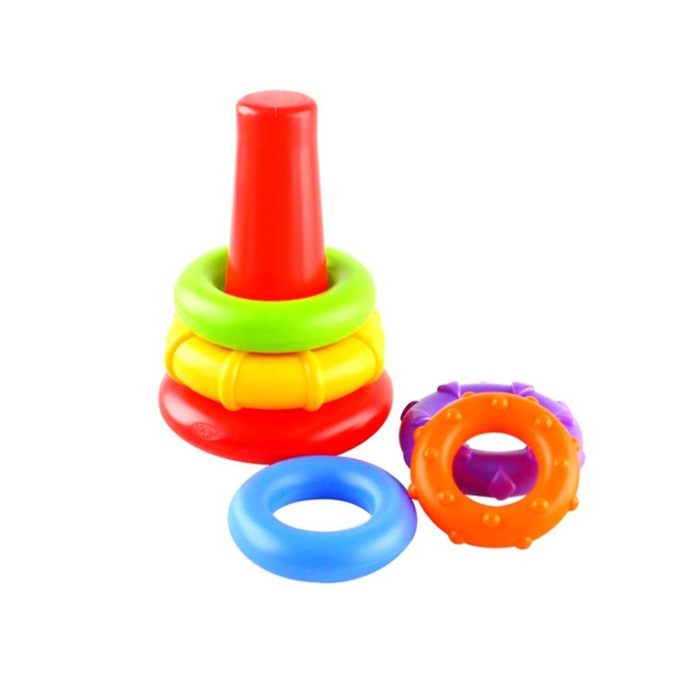 선물 아이 장난감 오색 링쌓기 유아 어린이 조카 유아원 장난감 2살장난감 3살장난감 4살장난감