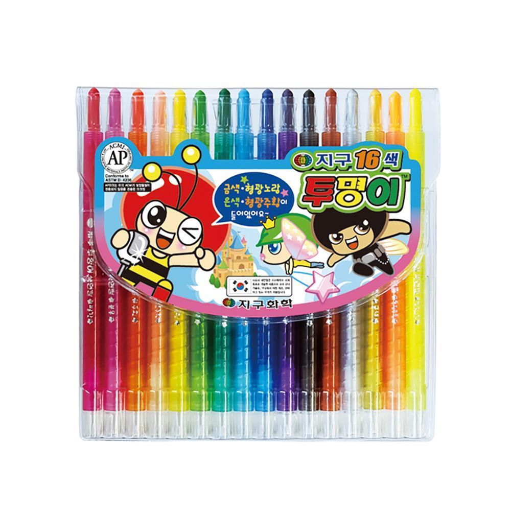 색연필세트 16색 샤프식 투명이 색연필 캐릭터색연필 신학기색연필 학습용색연필 16색색연필 미술색연필 초등학생색연필