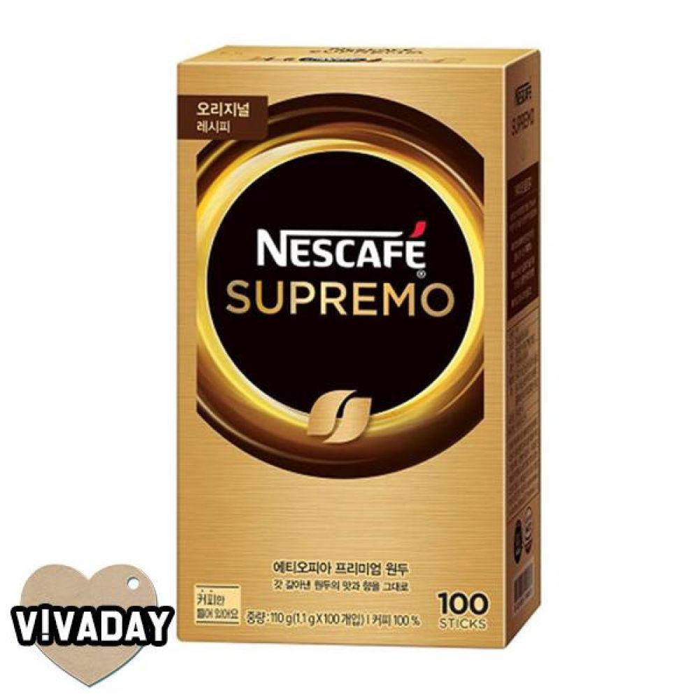 MY 네스카페 수프리모 아메리카노 100T 커피 일회용커피 맥심 네스카페 카누 모카골드 홈카페 카페 프렌치카페 블랙커피