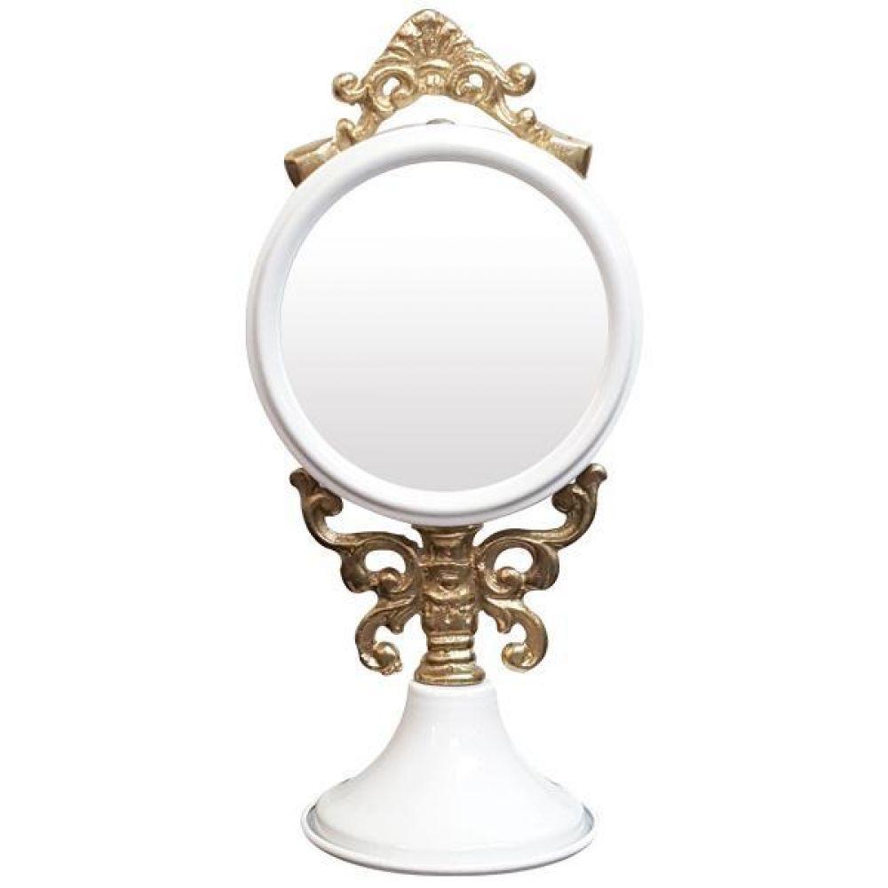 IG7364 장식용 주석 탁상 거울 화이트 제조한국 탁상거울 인테리어탁상거울 메탈탁상거울 모던탁상거울 주석탁상거울