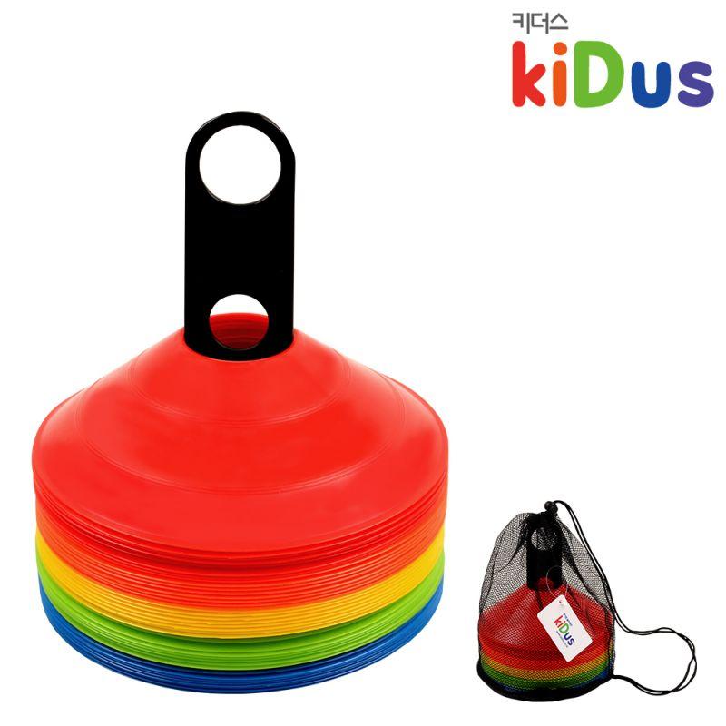 키더스 접시콘(40개세트) 유아체육 학교 유치원 어린이집 축구 칼라콘 허들콘 라바콘 꼬깔콘 안전용품