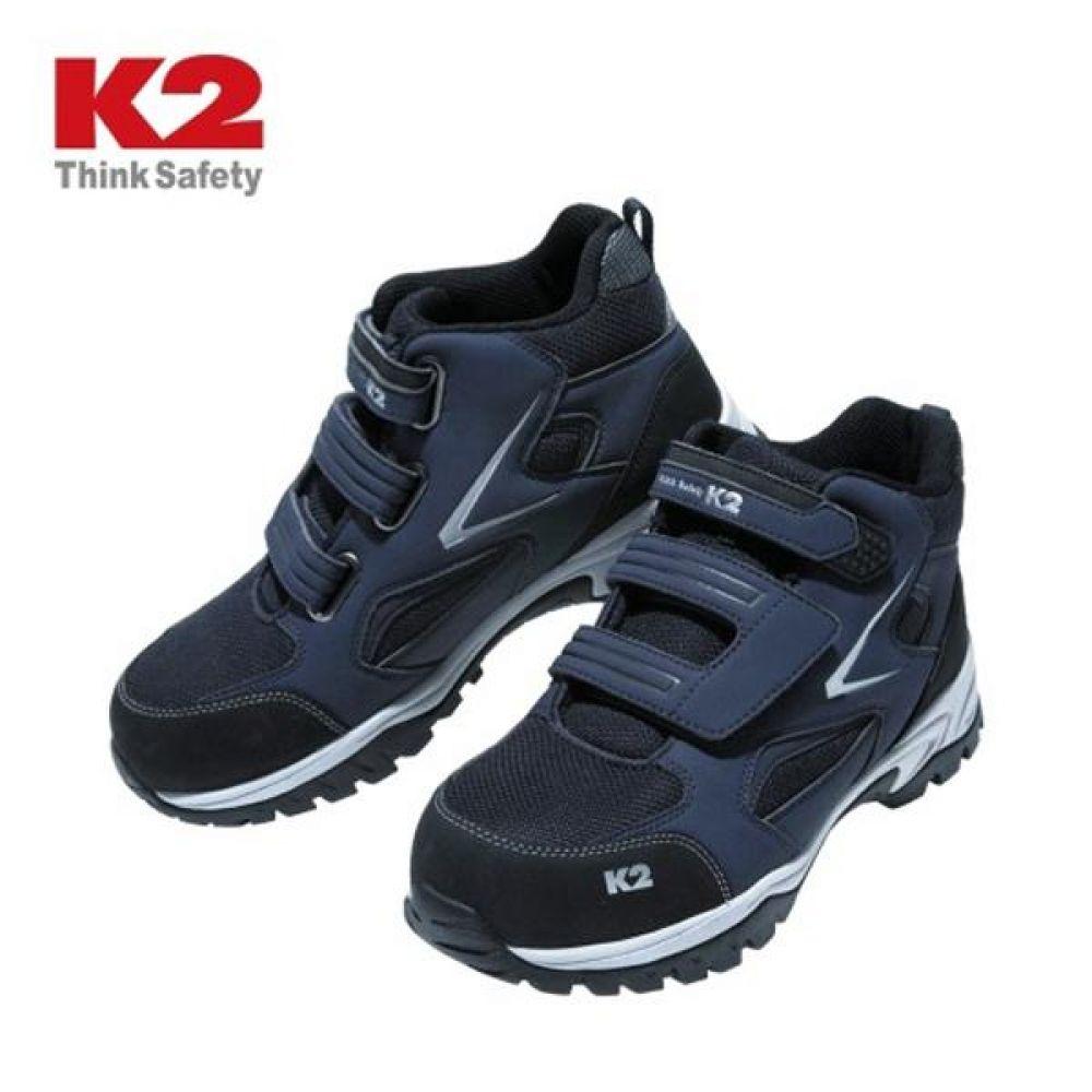 K2 K2-84 찍찍이 6in 보통작업용 중단화 안전화 안전화 K2 케이투 가죽안전화 찍찍이안전화 작업화 현장화