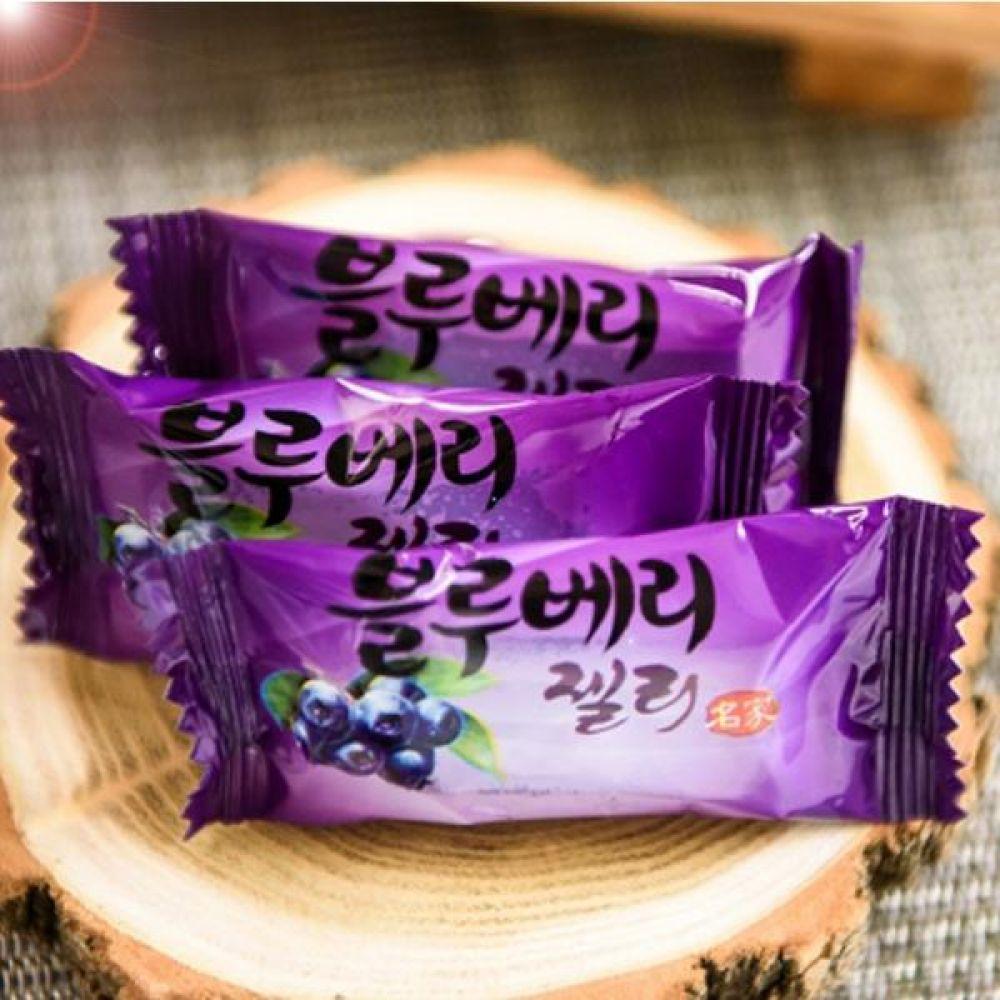 블루베리 젤리 250g 잘 익은 자연 그대로 천연과즙을 담은 달콤한 과일젤리 식품 농축산물 건강식품 젤리 블루베리