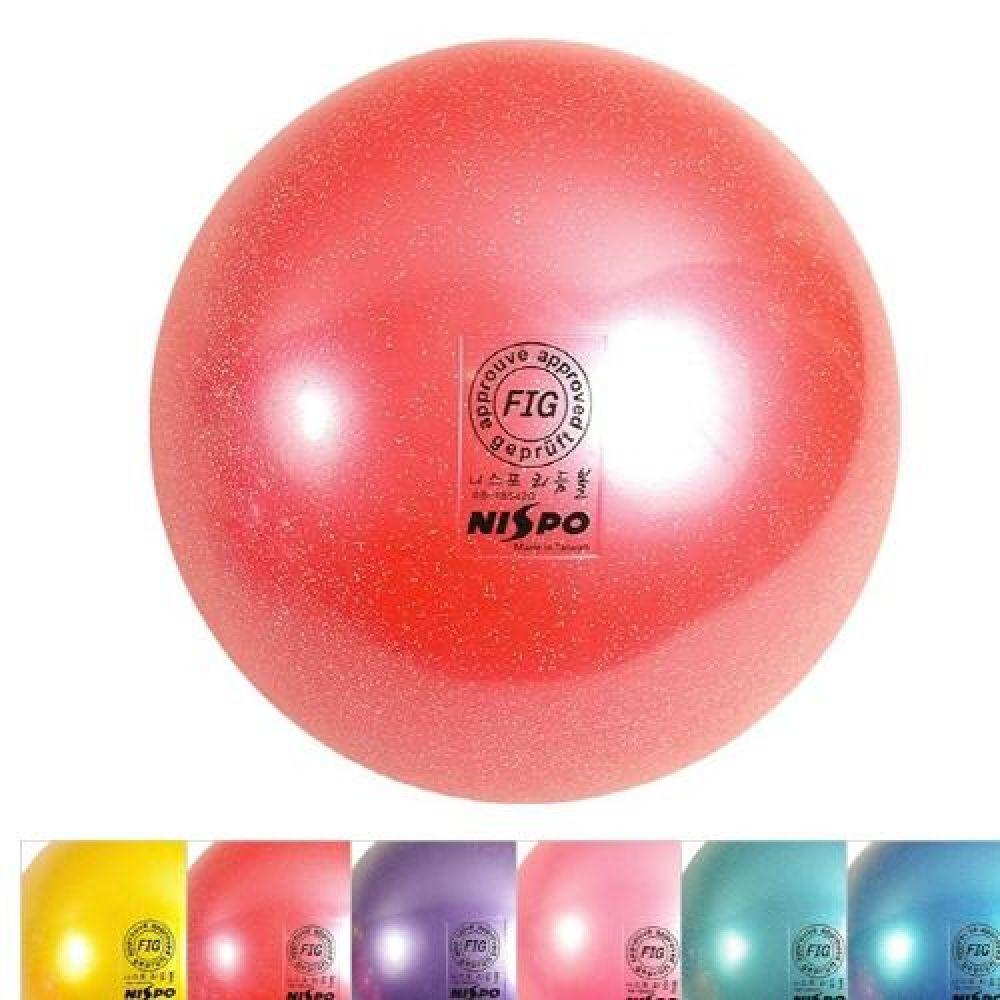 NISPO 리듬체조 메탈 펄 공 185mm 6컬러 스포츠용품 운동용품 체육용품 리듬체조용품 리듬체조공