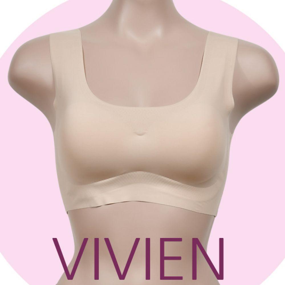 (비비안)(BR7112)AB컵 공용 스포츠브라 여성브라 여성속옷 스포츠브라 노와이어브라 누디브라