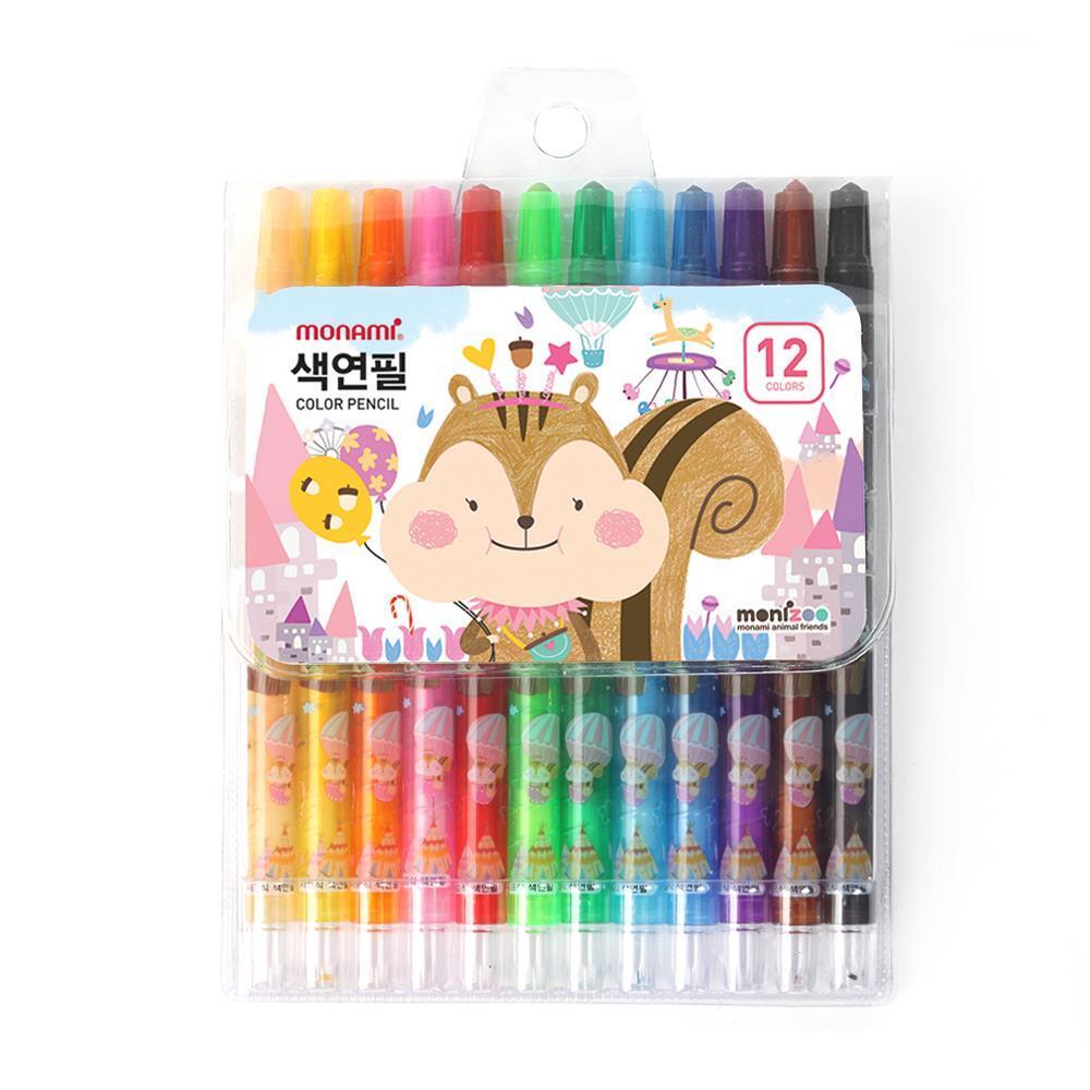 12색 색연필 핑크 샤프식 컬러링색연필 모나미색연필 고급색연필 컬러링색연필 미술준비물 모나미색연필 미술용색연필