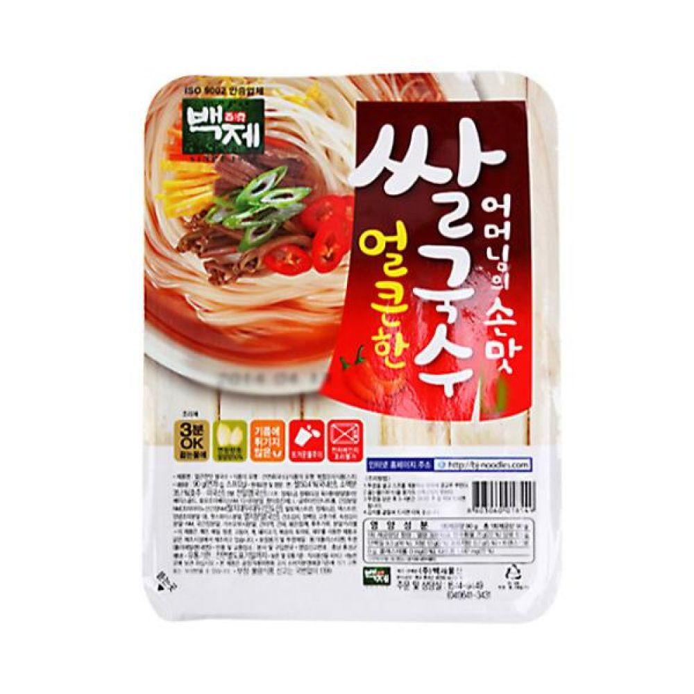백제)쌀국수 얼큰한맛 용기 92g x 30개 라면 컵라면 사발면 간식 식사