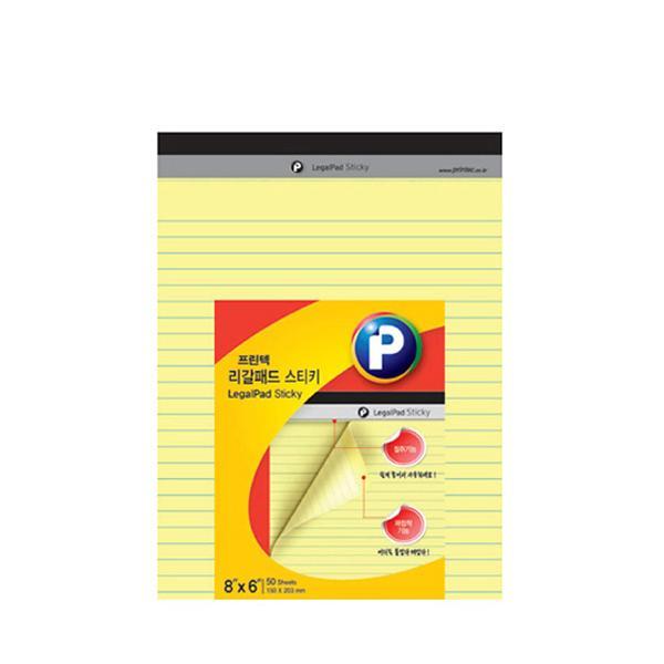 프린텍 LP150Y 리갈패드 스티키 노랑 150X203mm 리갈패드 스티키노트 포스트잇 메모지 접착메모지 프린텍 점착메모지