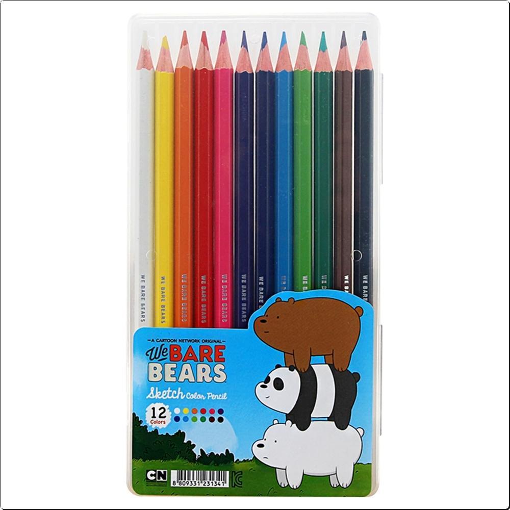 위베어베어스 12색 스케치 색연필 (연필형)(231341) 캐릭터 캐릭터상품 생활잡화 잡화 유아용품