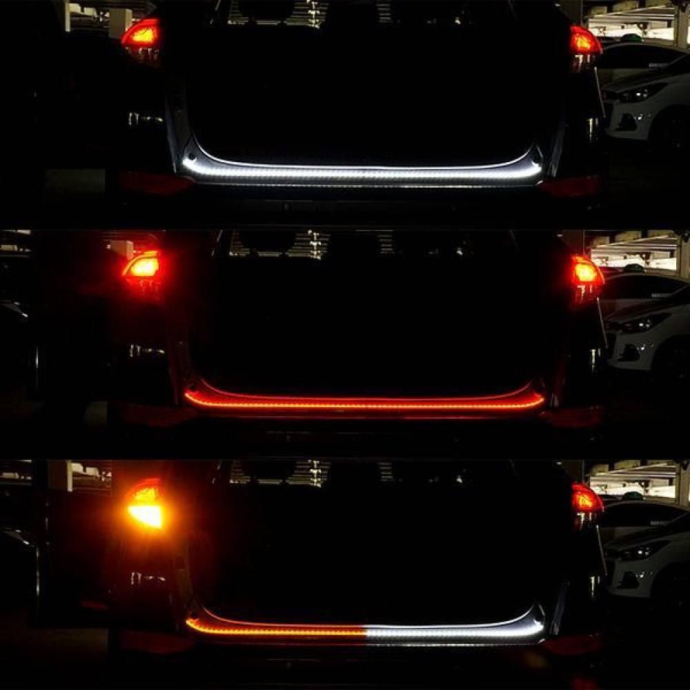 12V-24V용 3WAY LED바(화이트-레드-옐로우LED) 모듈포함 80cm 50503칩3WAYLED바 2웨이모듈 3웨이LED바 LED바 LED램프 스마일등LED 아이라인LED LED바 미등LED 브레이크등 깜빡이등