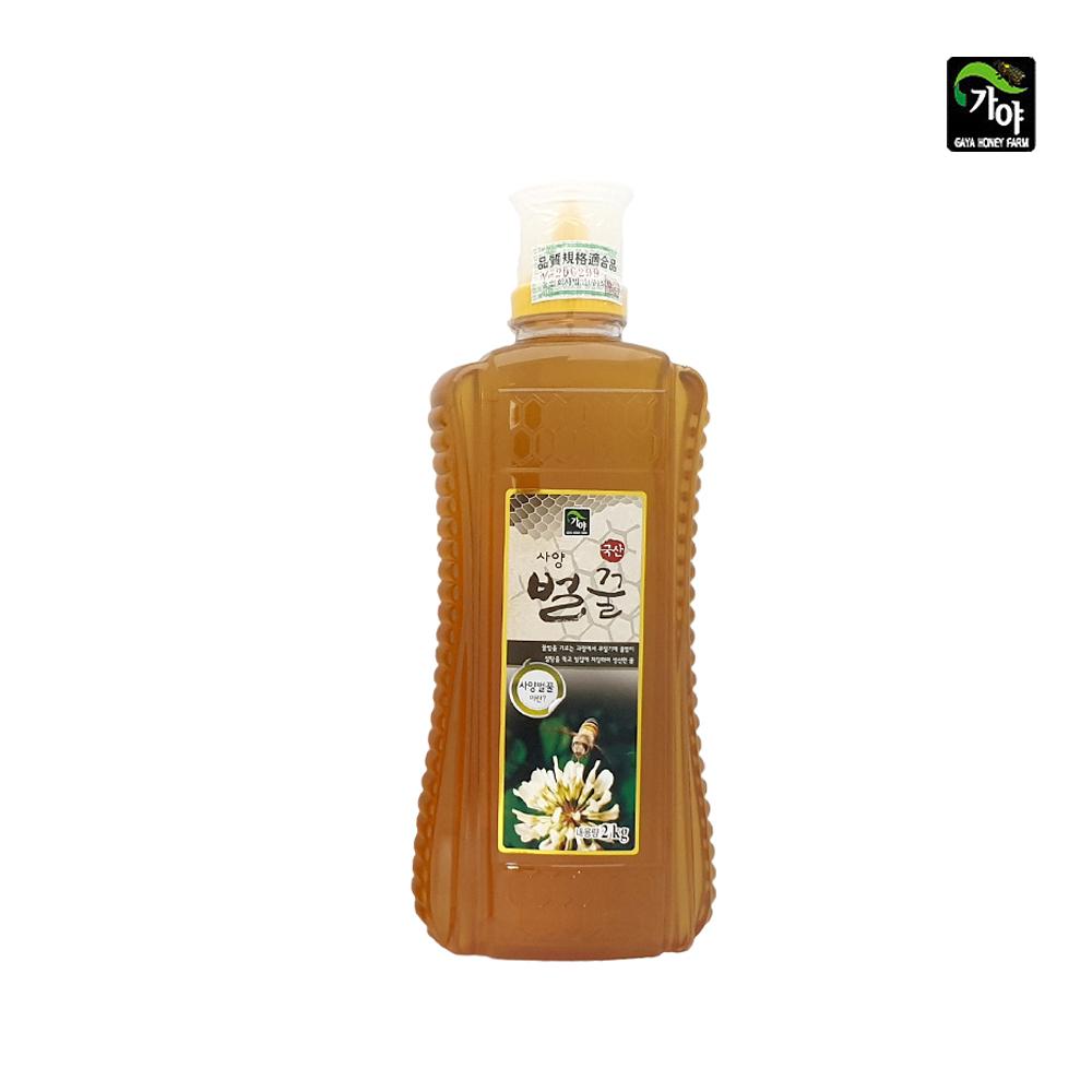 가야 국산 사양 벌꿀 2kg/ 대용량꿀/ 간편한튜브형꿀 사양벌꿀500g 사양벌꿀1kg 사양벌꿀2kg 대용량벌꿀 대용량사양벌꿀