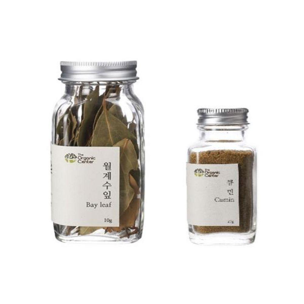 (오가닉 향신료 모음)월계수잎 10g과 큐민 파우더 23g 건강 견과 조미료 냄새 고기