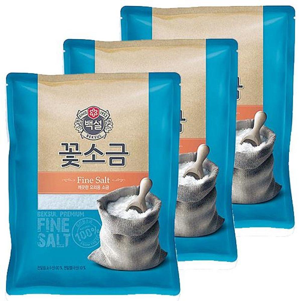 CJ)꽃소금 500g x 10개 짠맛 간 국 찌개 고기