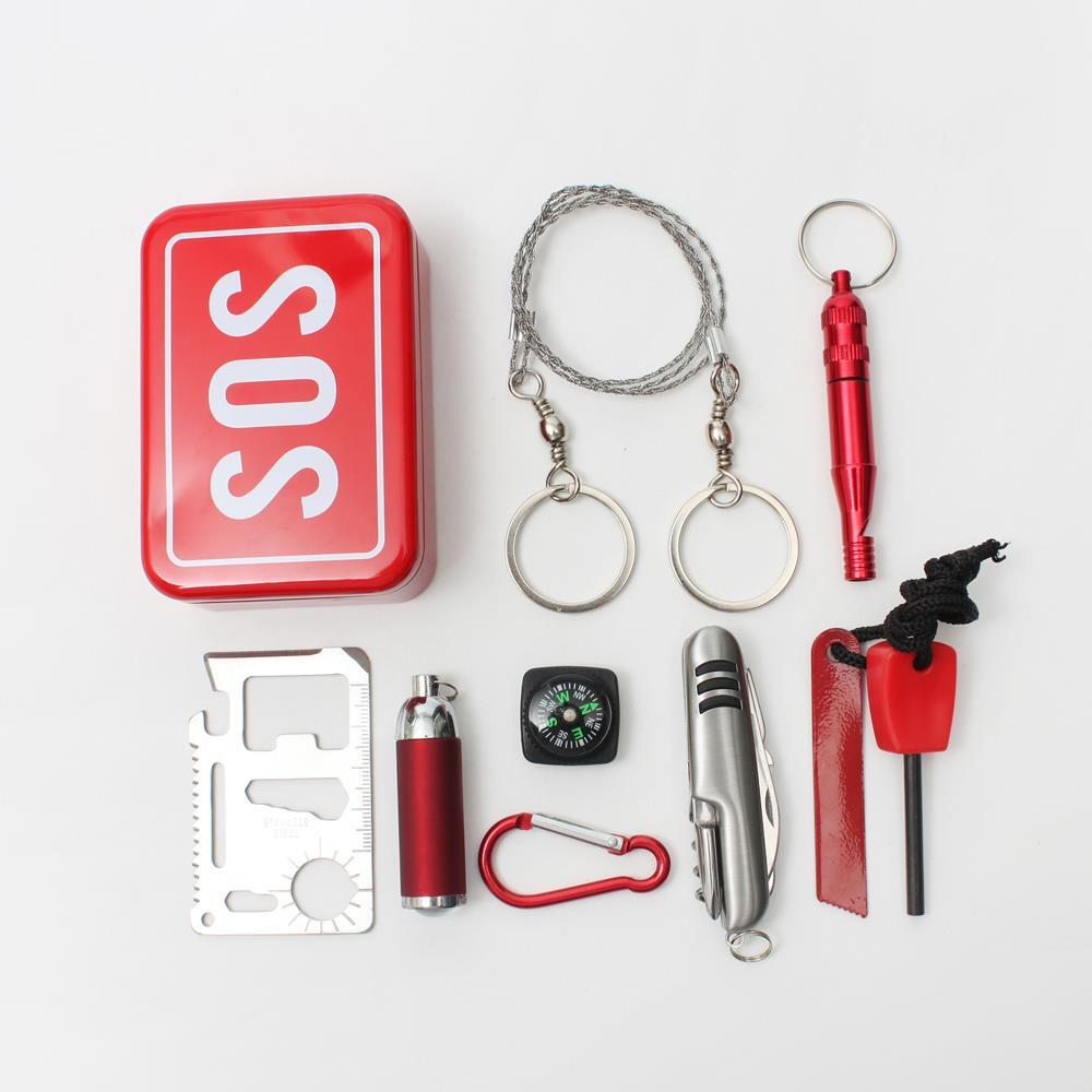 SOS 서바이벌 생존도구세트 생존키트 비상용 생존용품 생존도구 생존용품 서바이벌키트 비상용 맥가이버칼