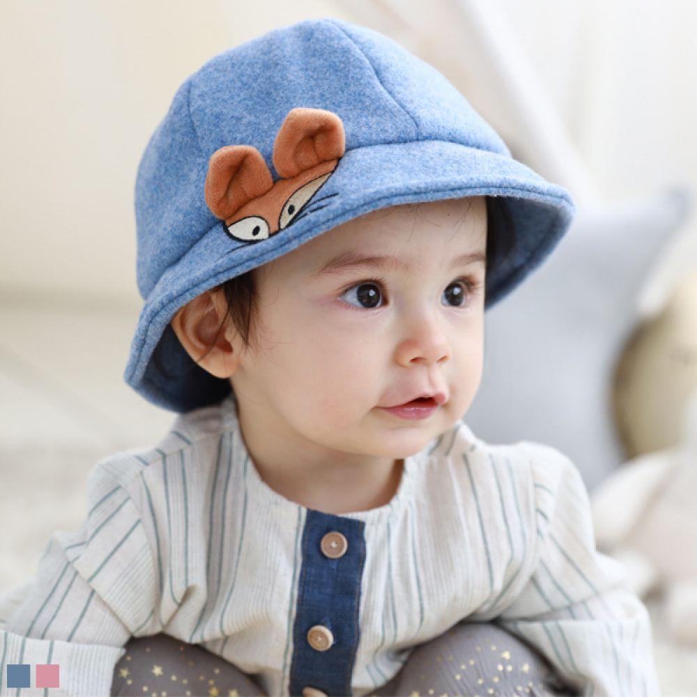 여우 유아 벙거지모자(44-46cm) 509374 아기모자 유아모자 신생아모자 아기벙거지모자 유아벙거지모자 신생아벙거지모자 벙거지모자 유아겨울모자 유아가을모자 동물모자