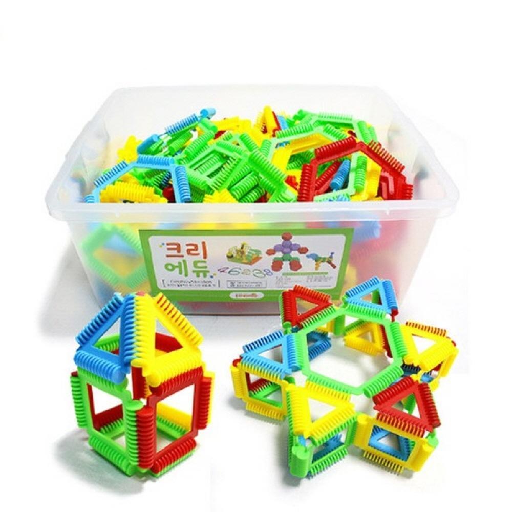 교구 아이 놀이 장난감 소프트 멀티링 블록 200피스 퍼즐 블록 블럭 장난감 유아블럭