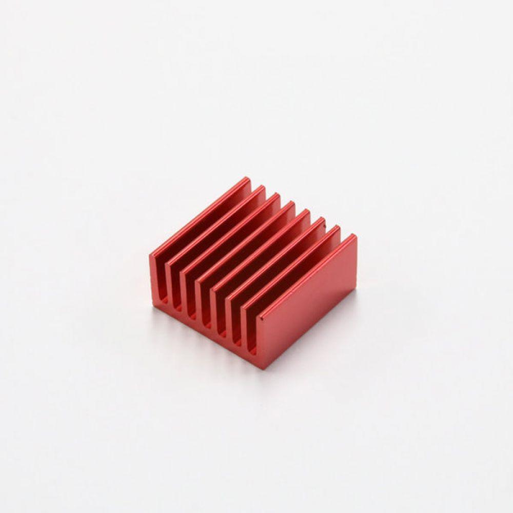 소형 알루미늄 히트싱크 칼라 방열판 20x20x10mm 빨강 5개 히트싱크 방열판 칼라방열판 다용도 칼라히트싱크 알루미늄방열판 히트싱크 쿨러