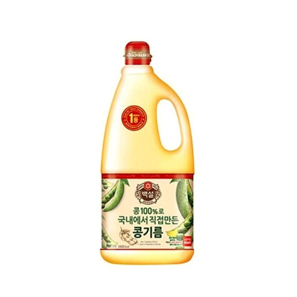백설 콩기름 식용유 1.8L 1개 튀김 부침 기름 백설 콩기름 식용유 오일 튀김기름
