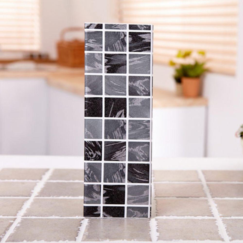 타일무늬펄시트 30cmx80cm 펄블랙 벽시트지 시트지 포인트시트 벽시트지 스티커벽지 인테리어 시트지
