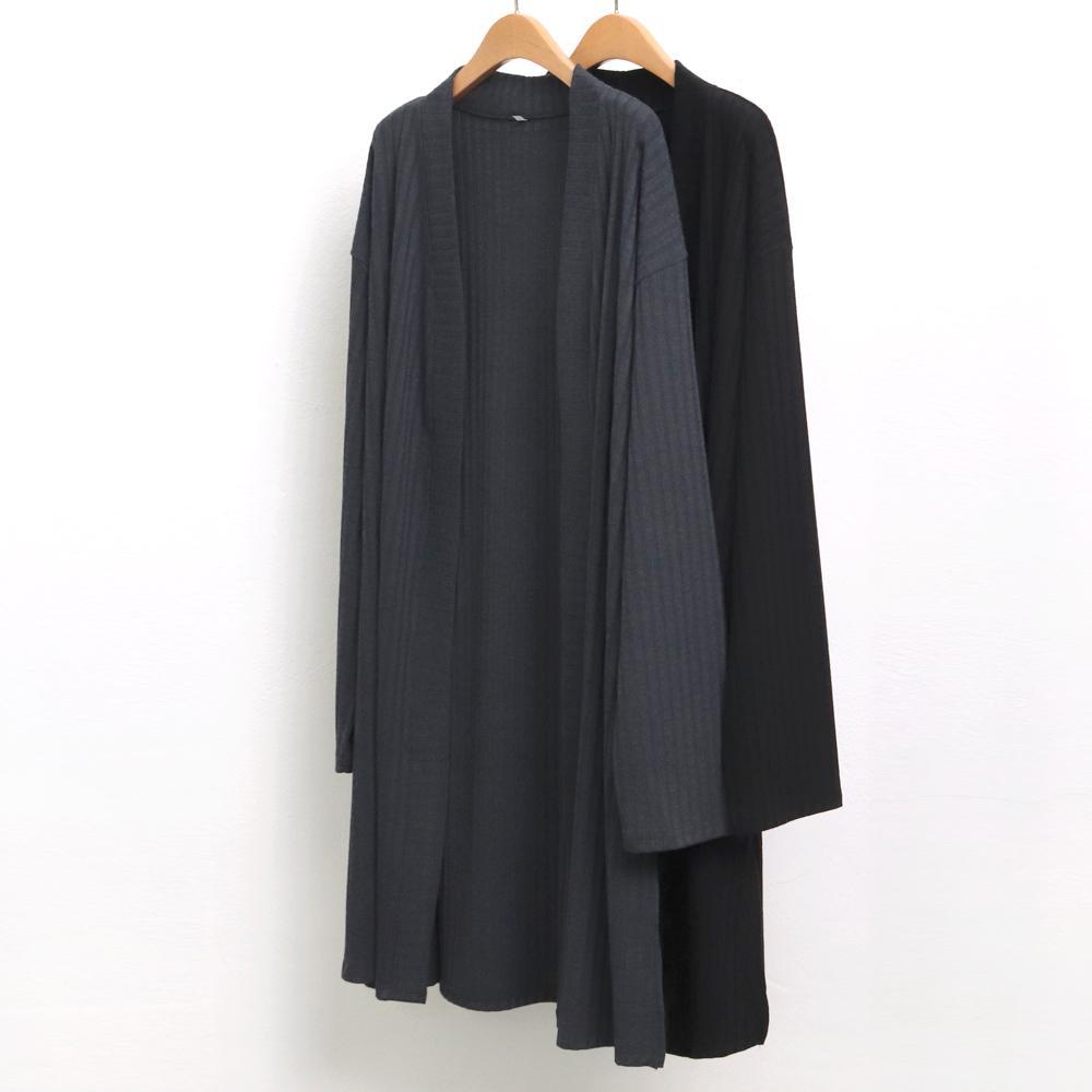 미시옷 6884L910 왕 골지 오픈 가디건 WW 빅사이즈 여성의류 빅사이즈 여성의류 미시옷 임부복 골지오픈루즈가디건